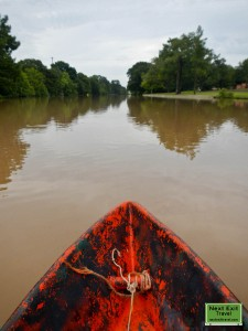 On the Bayou Teche in a pirogue