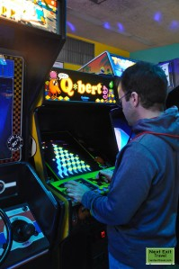 WPT and Q*bert at Timeline Arcade