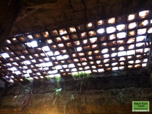Bill Speidel's Underground Tour - Old skylights illuminating the underground