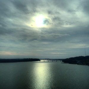 View of the Susquehanna River from I-95, on the Megabus