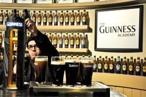 Pouring the perfect pint, Guinness Storehouse
