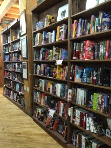 Tattered Cover mystery section
