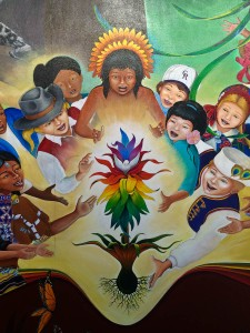Detail: In Peace and Harmony with Nature, by Leo Tanguma