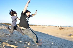 Jumping the Dunes at Jockey's Ridge State Park